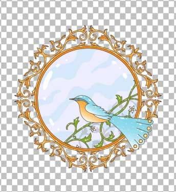 وکتور پرنده و آینه نوروز