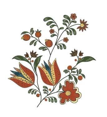 دانلود وکتور گل اسلیمی