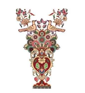 فایل حاشیه گل اسلیمی