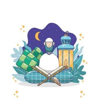 وکتور مینیاتوری ماه رمضان