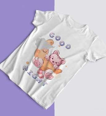 طرح تی شرت کارتونی گربه