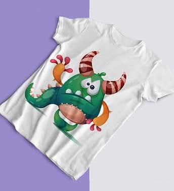 طرح تی شرت کارتونی هیولا