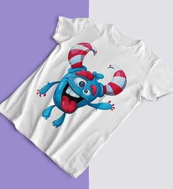 طرح تی شرت هیولا