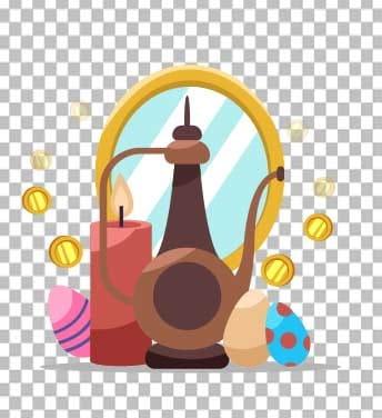 وکتور آینه و سکه عید